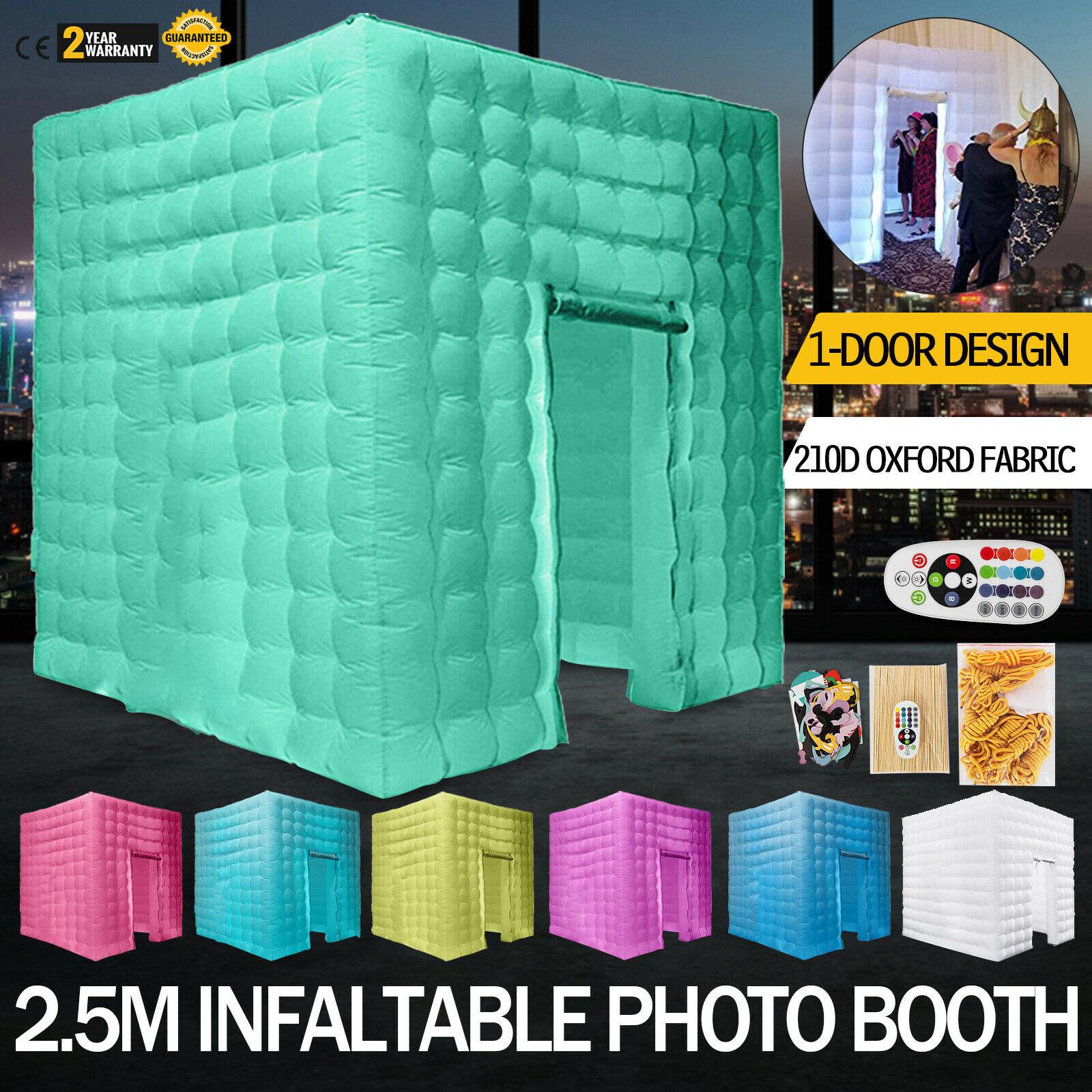 Portable Color inflable LED bomba de aire foto estudio tienda boda sola puerta Oxford tela