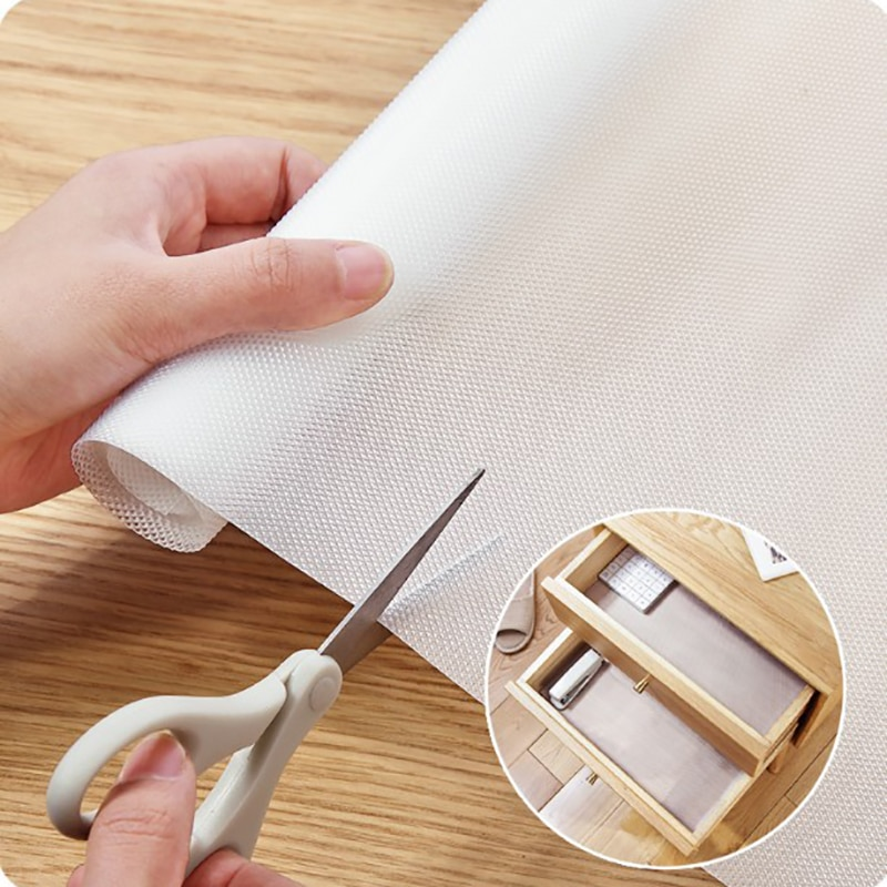Cupboard Cover Oilproof Waterproof Shelf Cover Mat Drawer Liner Anti-Slipping Drawer Mat For Kitchen Home Shelf Cabinet Table