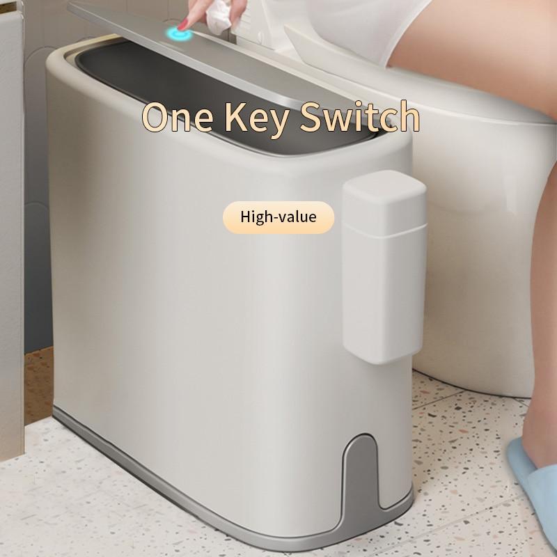 Joybos Trash Can Bathroom Garbage Bag Holder Rubbish Bin Recycling Waste Bins for Kitchen Bucket Cra