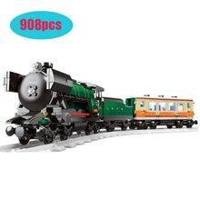21005 908Pcs Kompatibel lepining Technik Series Smaragd Nacht Zug Modell Gebäude Kit Block Ziegel Spielzeug Klon 10194