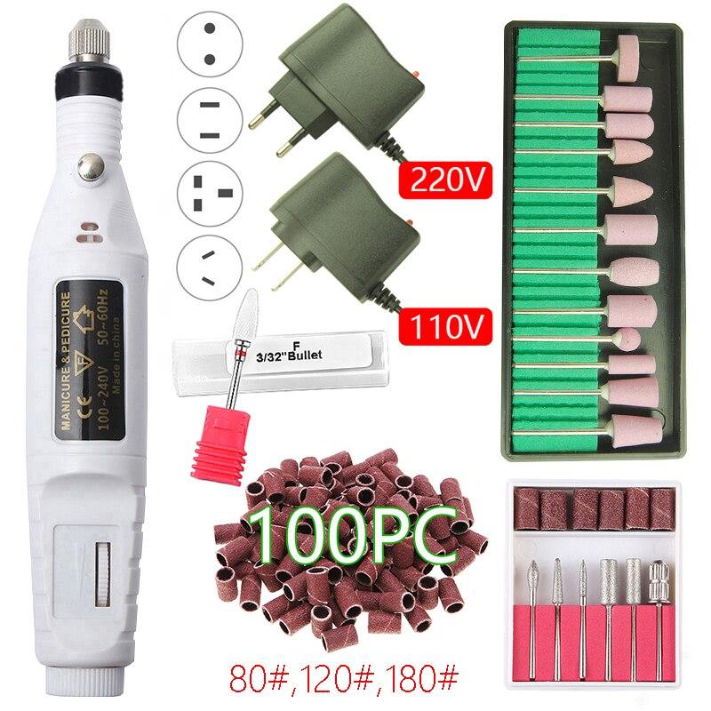Electric Nail Drill Machine 20000RPM Manicure Drill Portable Pedicure Drill Salon Nail Drill Professional Nail Drill Machine Set