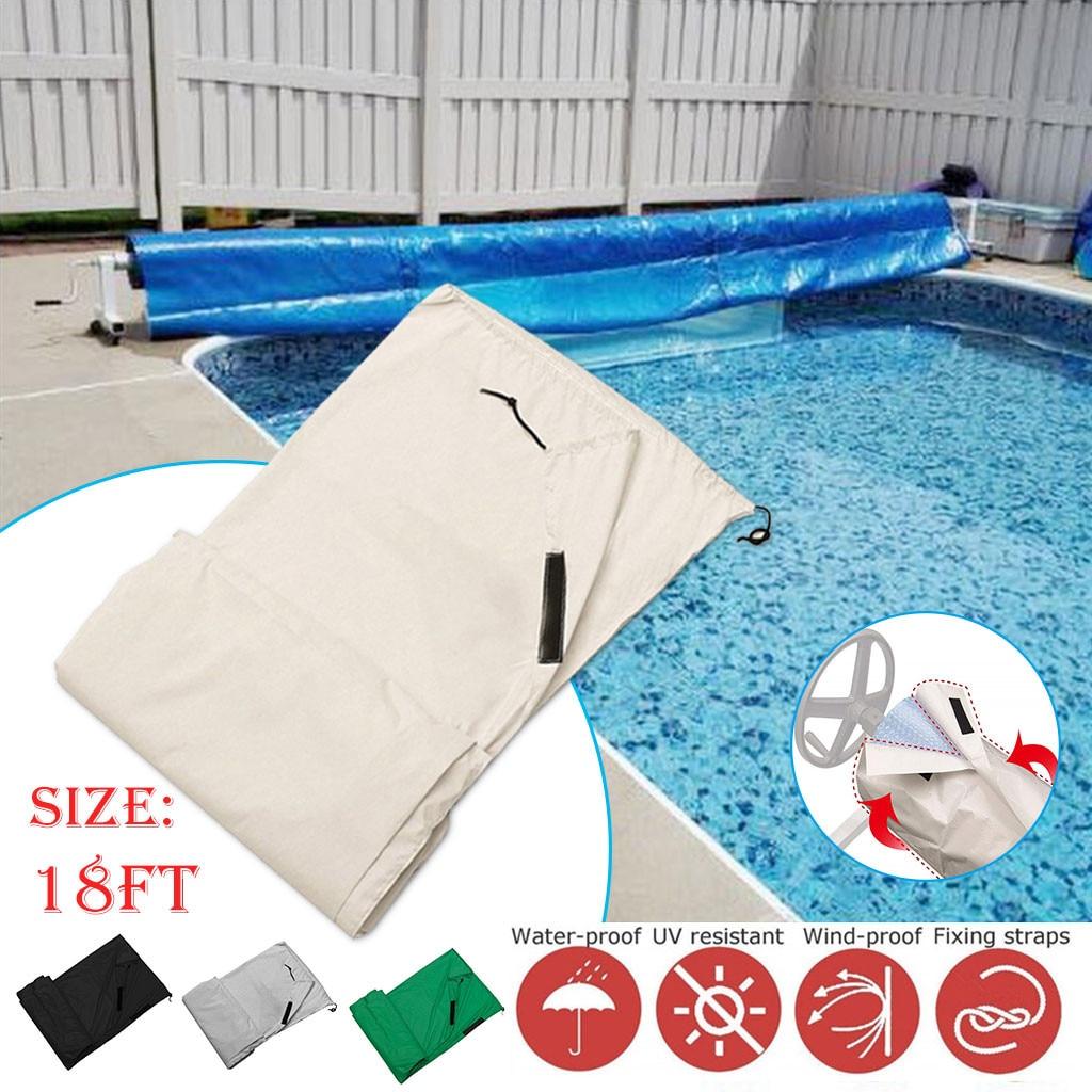 Cubierta de piscina para exteriores, a prueba de polvo, a prueba de agua, protección UV, cubierta Solar de rodillo para piscina, manta Solar, herramienta de natación #5