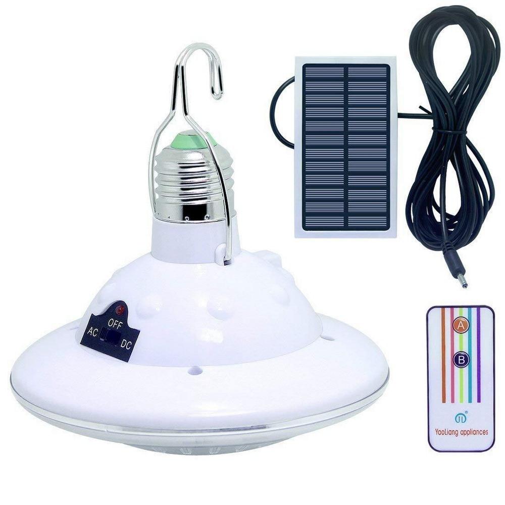 Panel Solar de energía Solar de 3W/5W para tienda, Camping, senderismo, con lámpara Solar de Control remoto, luz LED Solar para jardín, 12/22