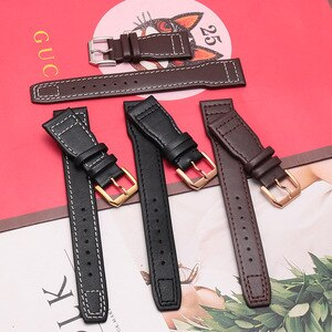 Suitable For Omega Mido Longines IWC Series Watch Accessories With Watch Buckle Leather Watch With 22mm Cowhide Strap
