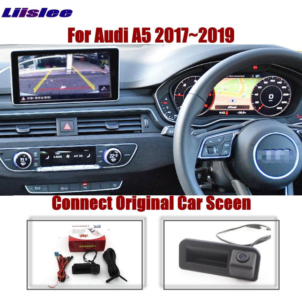 AUTO CAM Car Rear Camera For Audi A5/S5 2017 2018 2019 2020 Original Screen Upgrade Dynamic Image Parking Reverse