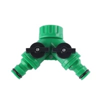 1pcs 2 way y type g3 4 garden water pipe outlet quick connector with switch drip irrigation system valve irrigation adapter