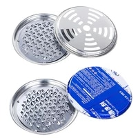 1pcs mosquito coil holder tray frame safe metal round rack plate portable spiral with cover incense insect repellent random