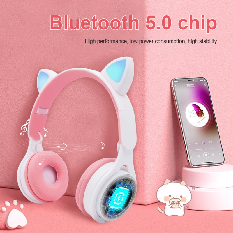 Auriculares inalámbricos plegables con Bluetooth V5.0 y cancelación de ruido para mujer...