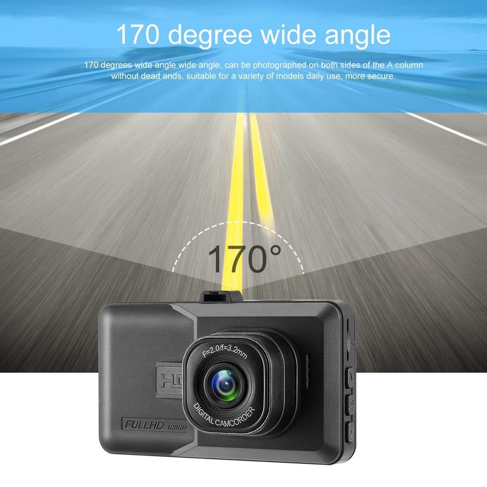 2019 3 pulgadas DVR 120 grados gran angular cámara de salpicadero lente Dual 1080P coche grabadora de vídeo Digital con función nocturna caliente