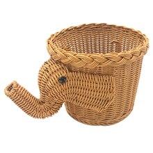 Panier de pique-nique en bambou   Ménage, tissé à la main en bambou, pain de nourriture, panier de pique-nique de camping, panier de rangement de fruits en bambou