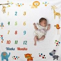 Реквизит для детской фотосъемки фоновое одеяло для новорожденных ежемесячное одеяло для новорожденных праздничный ковер