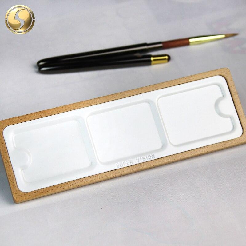 Супер видение окрашенный деревянный поднос из палитры на плоской подошве акварельные краски палитры гуашь китайской живописи палитра товары для рукоделия