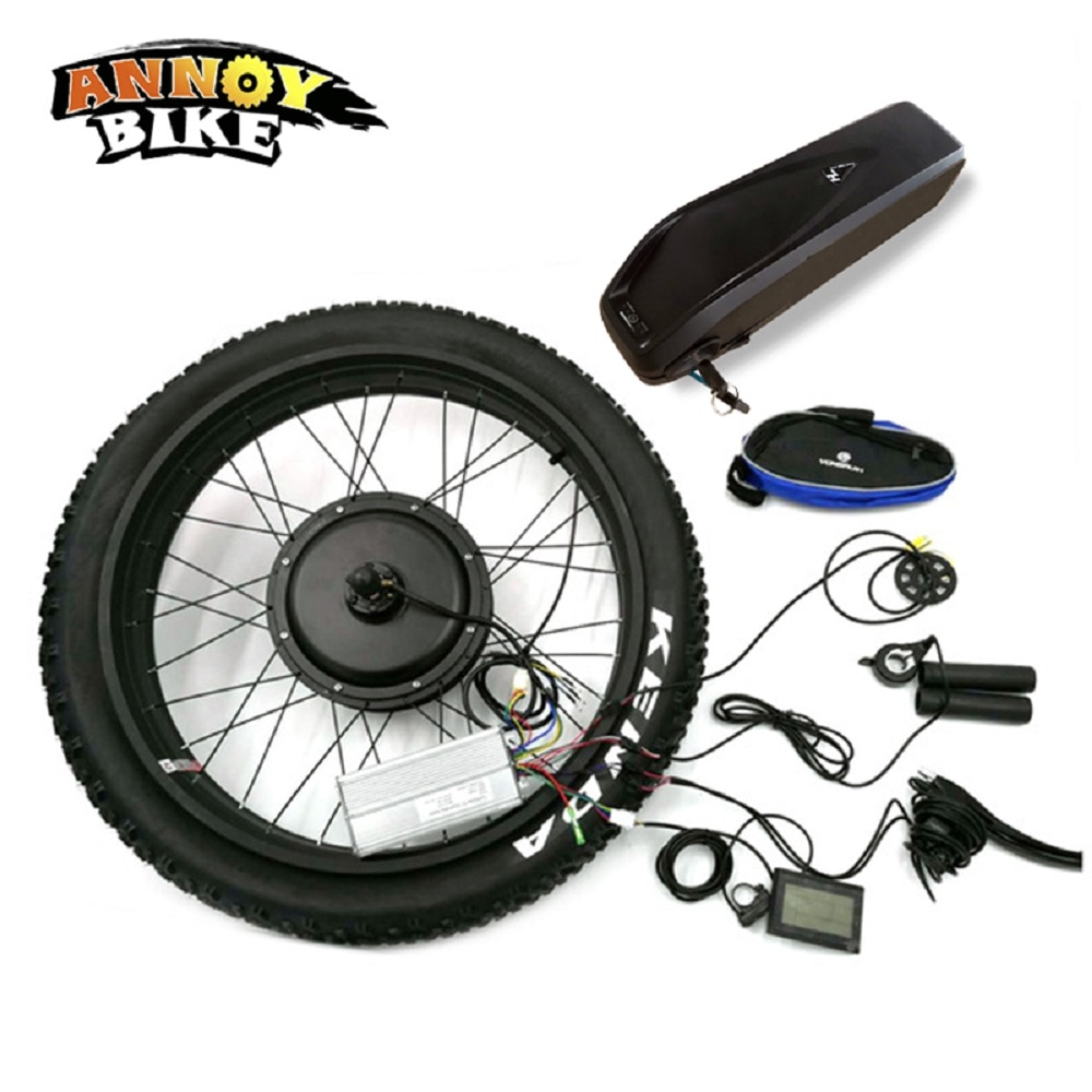 "Schnee Bike Hinten Stick 24 ""26"" 4,0 Fett 48v 1500w Bicicleta Electrica Motor Elektrische Fett Mit batterie Bike Conversion Kit 4,0 Reifen"