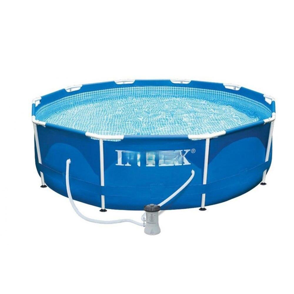 Swimming Pool Frame Metal Frame 305x76 Cm 4485l Pump with Filter 1250 L/H Super Large Bracket Pool