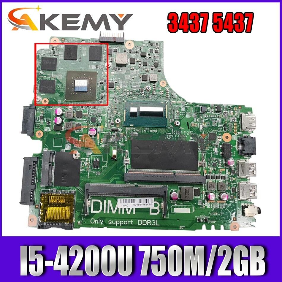 العلامة التجارية الجديدة I5-4200U 750 متر/2 جيجابايت لأجهزة الكمبيوتر المحمول Dell Inspiron 3437 5437 اللوحة الرئيسية 12307-2 PWB:VKJ89 CN-0CN2DV CN2DV اللوحة الرئيسية 100% ...