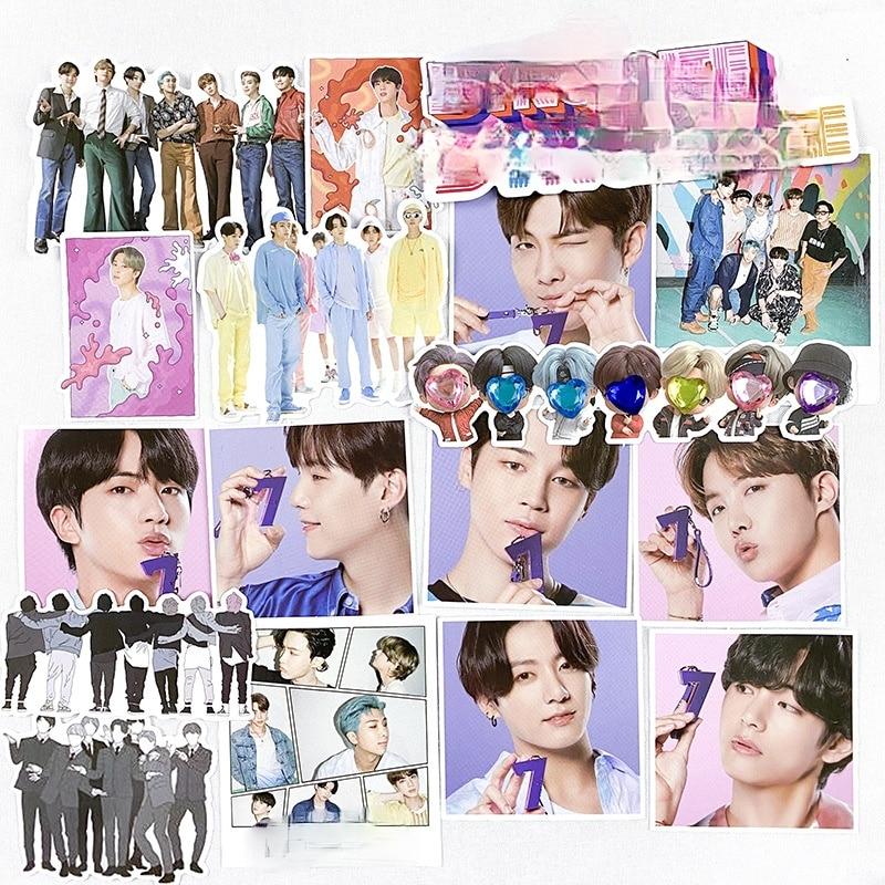 KPOP Popular Idol Korean Star Character School Stationery Sticker Diary Skateboard Suitcase Teacup Office Decoration 101PCS