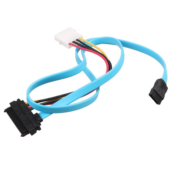 LA55 50CM SATA 3,0 III SATA3 7pin Cable de datos de Angulo recto 6 Gb/s SSD Cables HDD Disco Duro Cable de datos con manga BAILE LI