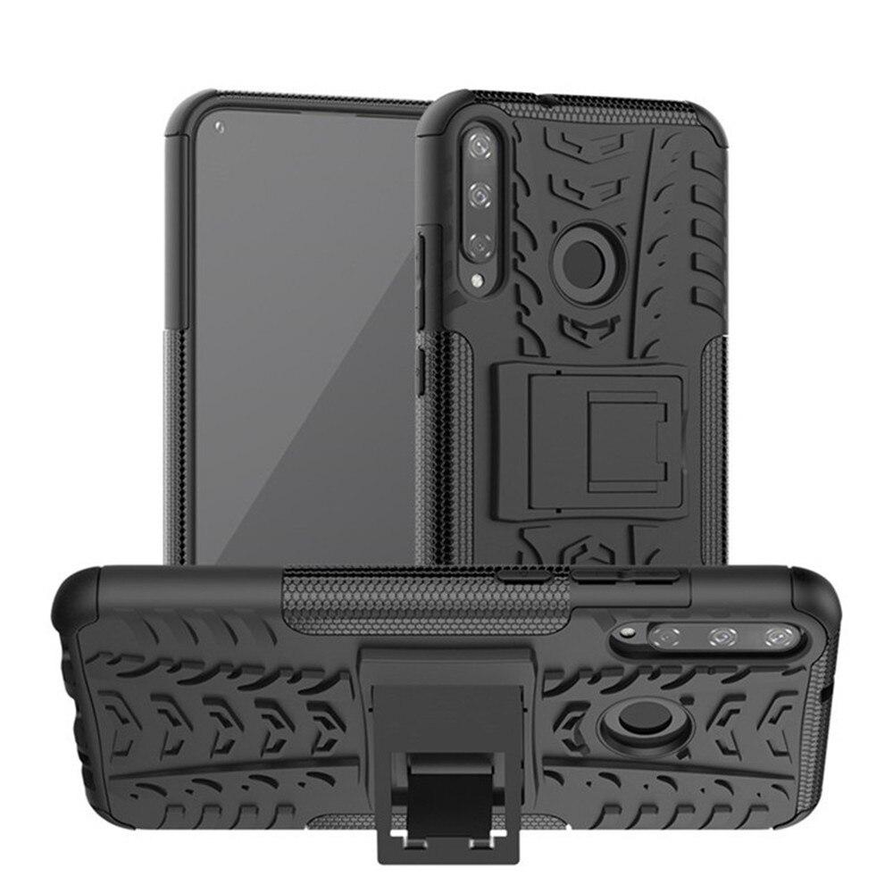 Para huawei honor 9c caso luxo pc + tpu capa traseira suporte armadura à prova de choque caso para huawei honor 9c honor9c telefone casos