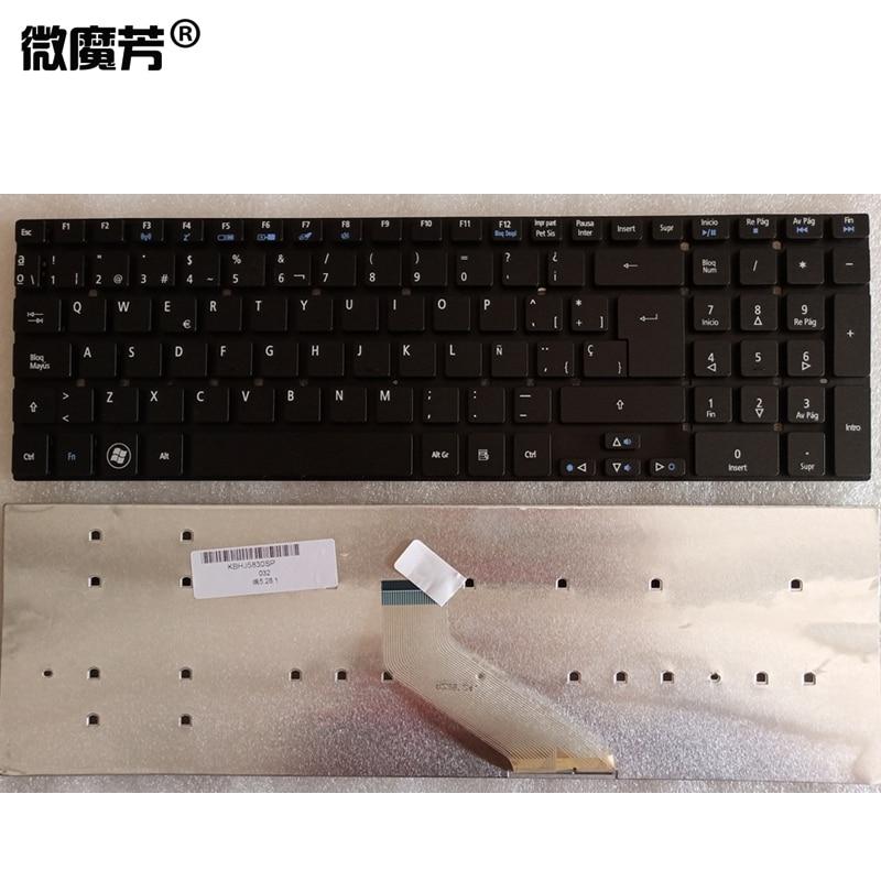 Nuevo teclado español para Acer Aspire E5-521 E5-521G E5-511 E5-511G E5-571 E5-571G...