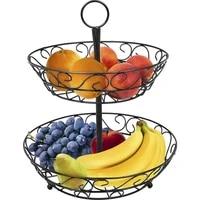 2 tier countertop fruit basket holder decorative bowl stand basket perfect for fruit vegetables snacks household items