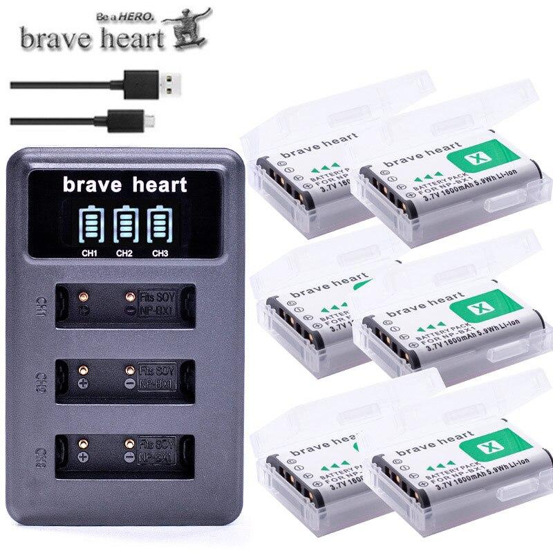 6x bateria NPBX1 NP-BX1 NP BX1 аккумулятор + 3 комплекта USB зарядное устройство для Sony DSC RX1 RX100 AS100V M3 M2 HX300 HX400 HX50 HX60 GWP88