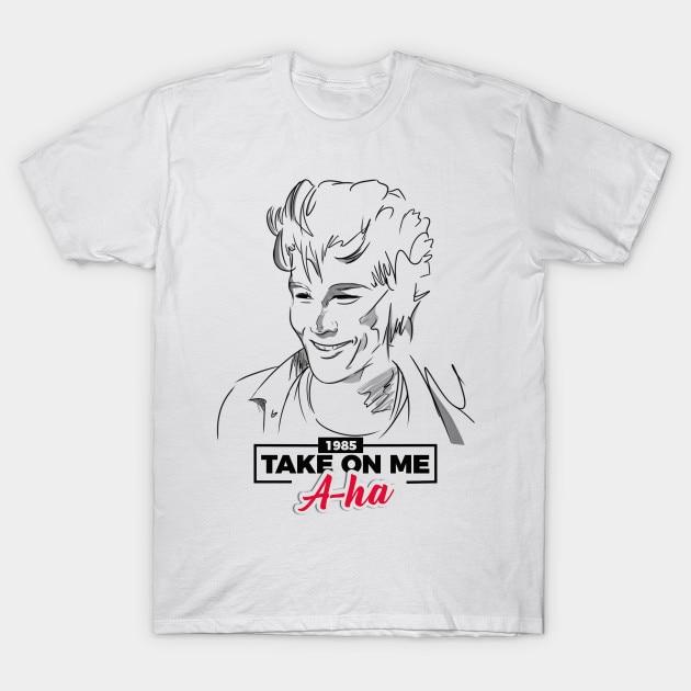 Camiseta de hombre Morten Harket in Take On Me a ha por Marilyn linram18 (1) camiseta de mujer