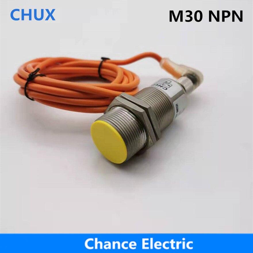 Conector de Sensor de flexión M30 NPN no + nc 10mm distancia de detección IM30-10-DNC-C 4 cables NO + NC Interruptor de Sensor de proximidad inductivo NPN