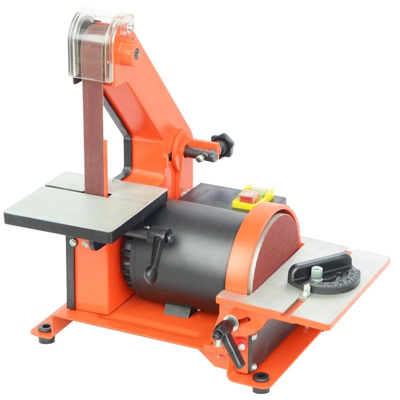 Table Belt Sander Metal Grinding/Polisher Sanding Machine Woodworking Copper Motor Knife Grinder Chamfering Machine Random Color