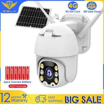 Solar IP Camera WIFI 4G SIM Card Video Surveillance Camera Two Way Audio Color Night Vision Motion Detection PTZ Security Camera