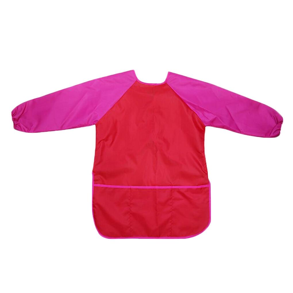 Impermeable reutilizado manga larga delantal bebé niño pintura alimentación bata babero niños suministros de dibujo