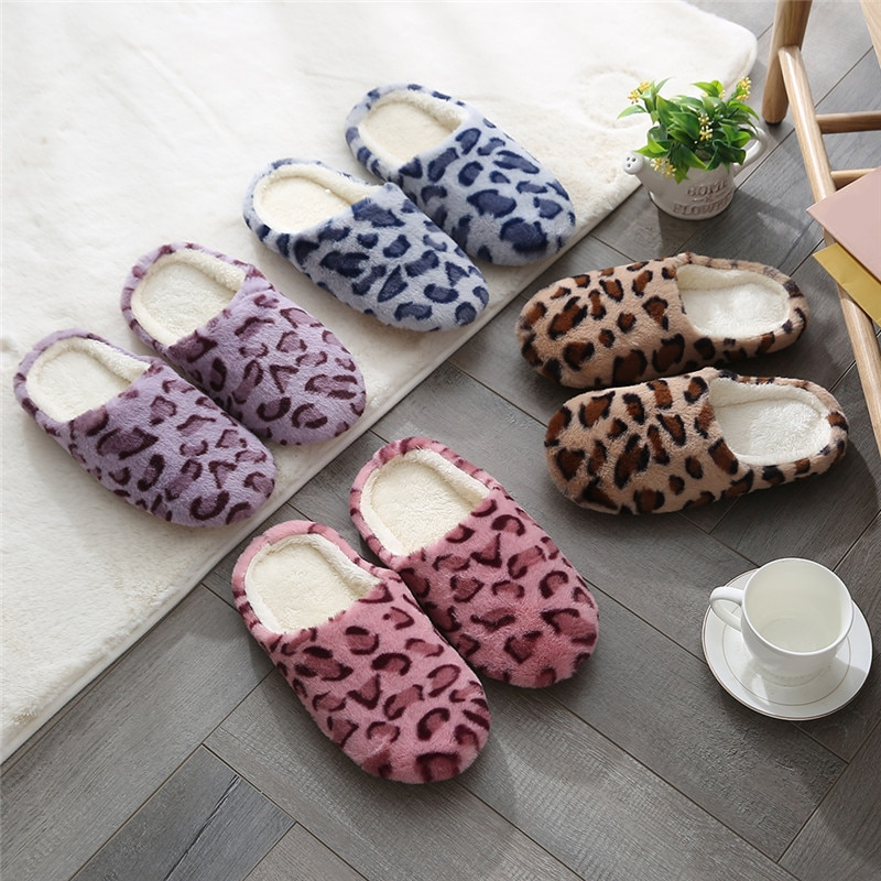 Warm Plush Indoor Slippers Women Men Home Floor Slipper Soft Faux Fur Shoes Lovers House Mute Slides Artificial Suede Sole