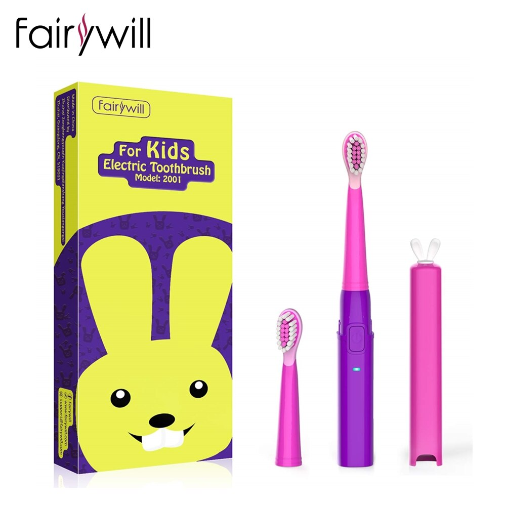 Kids Oral Clean Electric Toothbrush Soft Clean USB Charging Tooth Brush for Children with Soft Replacement Heads