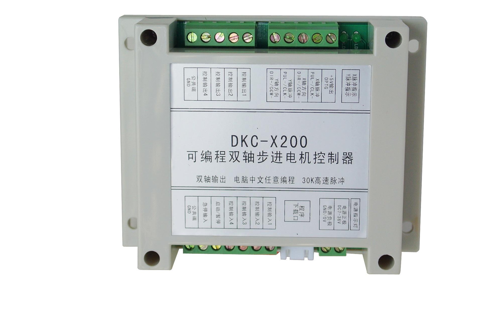 El controlador programable de motor paso a paso de doble eje DKC-X200 puede reemplazar el PLC en la programación china, que es fácil de aprender.