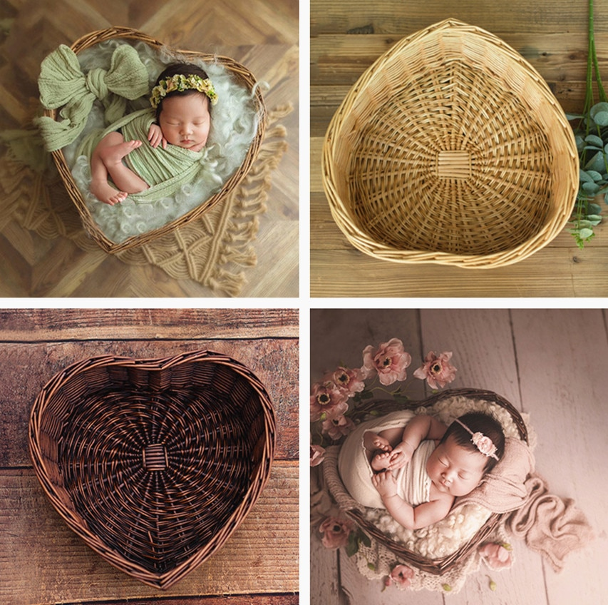 fotografie baby props vintage woven rattan basket newborn photography props basket baby posing sofa bed accessoire bebe photo Photography Baby Props Baby Shoot Studio Woven Accessori Basket Photo Props Baby Newborn Photography Prop Newborn Accessori