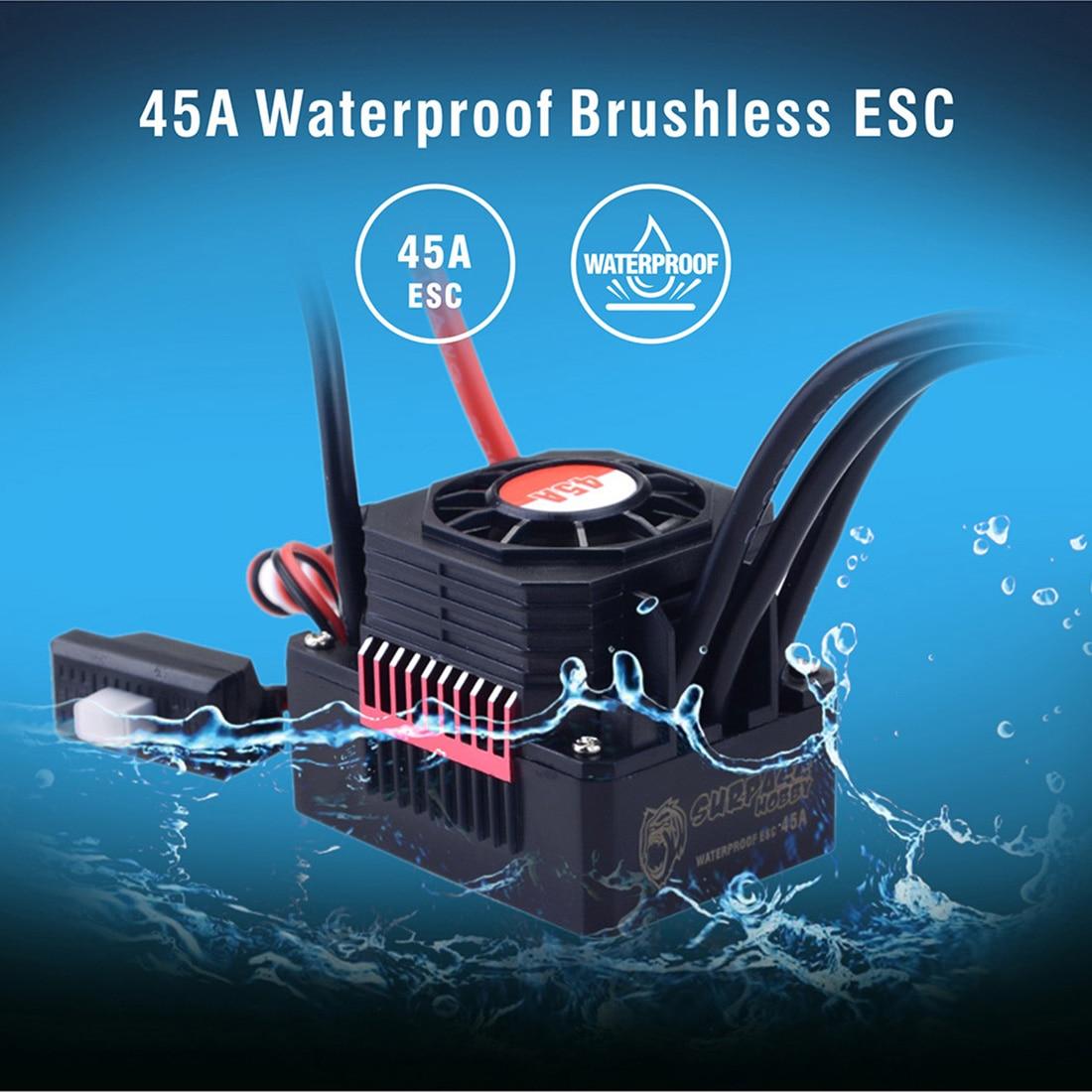Controlador de velocidad sin escobillas, a prueba de agua, sin sensor, 45A, 60a, 120A, 150A, ESC con tarjeta de programación LED para coche RC 1/8 1/10 1/12