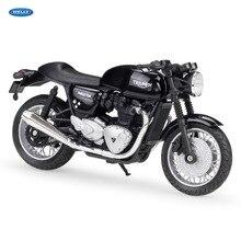 WELLY 118 TRIUMPH Thruxton 1200 en alliage moulé sous pression moto modèle jouet pour enfants cadeau danniversaire jouets Collection