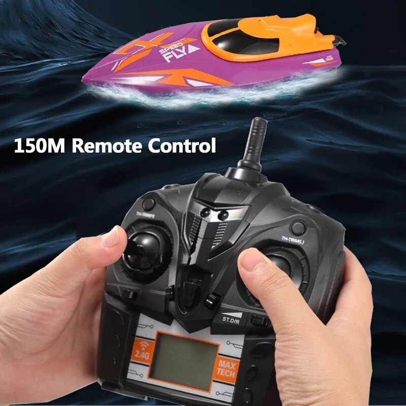 RC Boats Toys 30KM/H High Speed Racing Speedboat Model Yacht Water Cooling Waterproof Remote Control Ship Gifts for Kids Adult enlarge