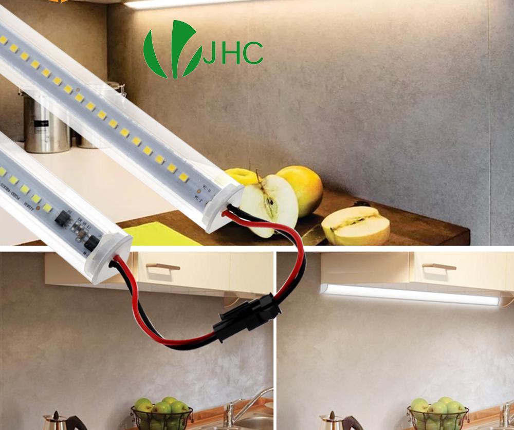 V-نوع Led إضاءة الخزانة 220 فولت 72 المصابيح 50 سنتيمتر أنبوب السوبر مشرق جدار الزاوية أضواء للمنزل الإضاءة المطبخ خزانة مصابيح 5 قطعة/الوحدة