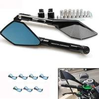 2pcs motorcycle aluminum 20mm bar end side rearview mirror universal motorbike bike handlebar rear view mirrors universal