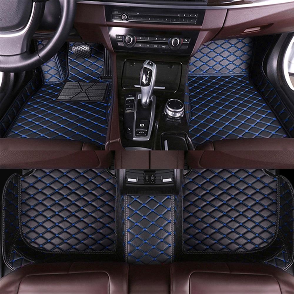 Custom Leather Car Floor Mats For 98% Car Models 4/5-Seats Non-Slip Foot Pads LHD Or RHD Four Season Auto Carpet Accessories