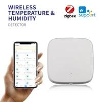 Zigbee     capteur dhumidite et de temperature  pour eWelink Smart Home  dispositif Compatible avec Alexa Google Home