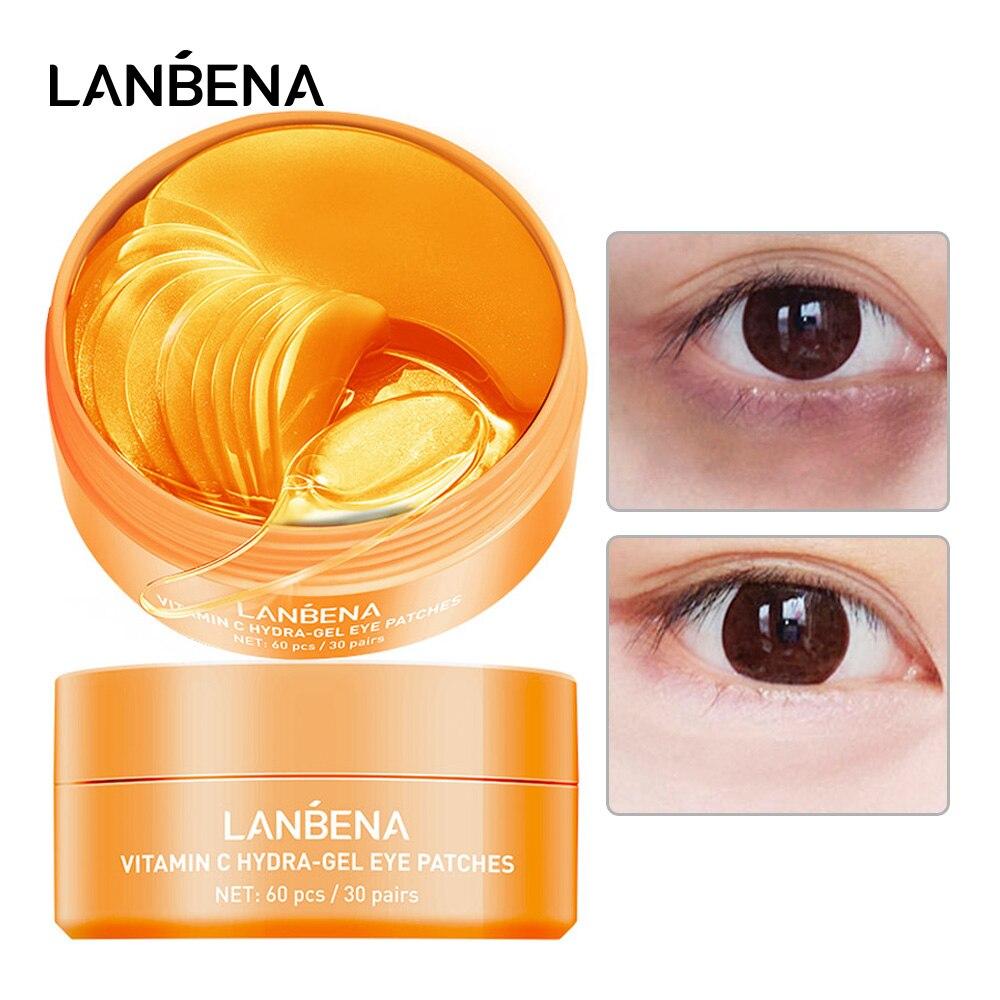 LANBENA Collagen Eye Mask Eye Patch Skin Care Moisturizing Hyaluronic Acid Gel Retinol VC Anti Aging Remove Dark Circles Eye Bag