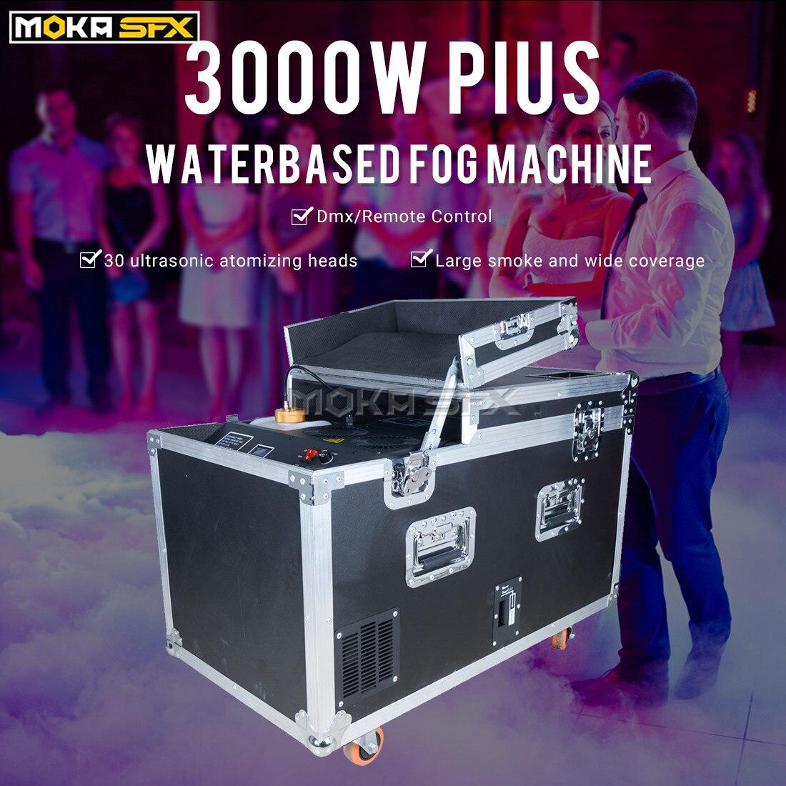 آلة ضباب مائية كبيرة ، 3000 واط ، تأثير الجليد الجاف ، رذاذ الماء المنخفض ، 2 خزان مياه كبير ، آلة دخان مع مخرج