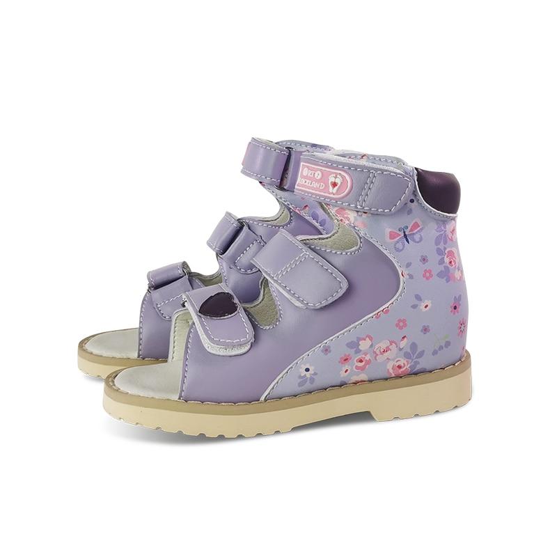Ortoluckland Girls Summer Sandals Baby Orthopedic Shoes For Children Kids 2021 Korean Style Dance Pink Open Toe Footwear enlarge