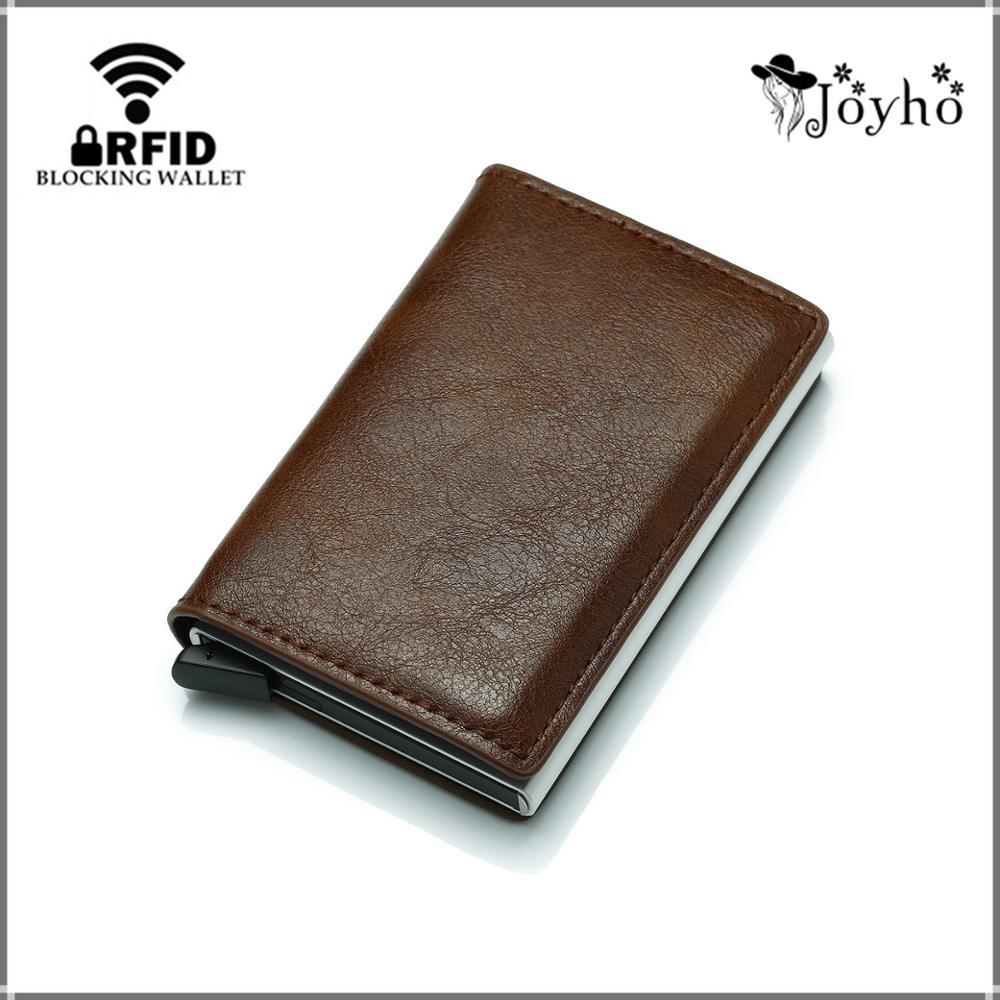 Tarjetero de negocios para hombre y mujer, billetera inteligente delgada de cuero...