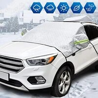 60 dropshippingcar front windshield sun frost snow dust cover wind cover winter