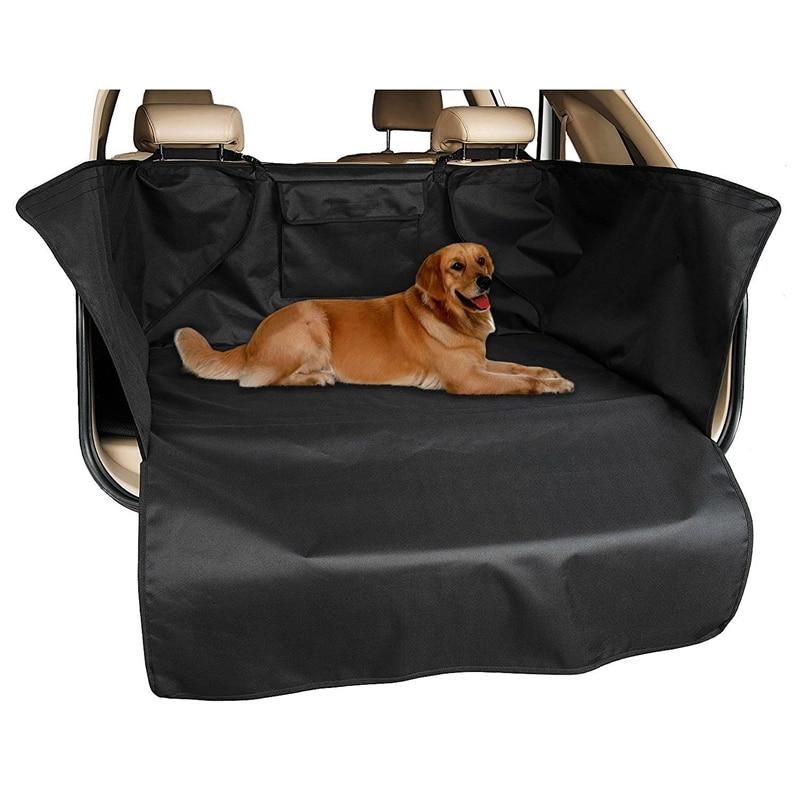 Oxford Cloth Waterproof Boot Liner Mat Pet Dog Floor Cover Trunk Protector 132x104x43cm Black