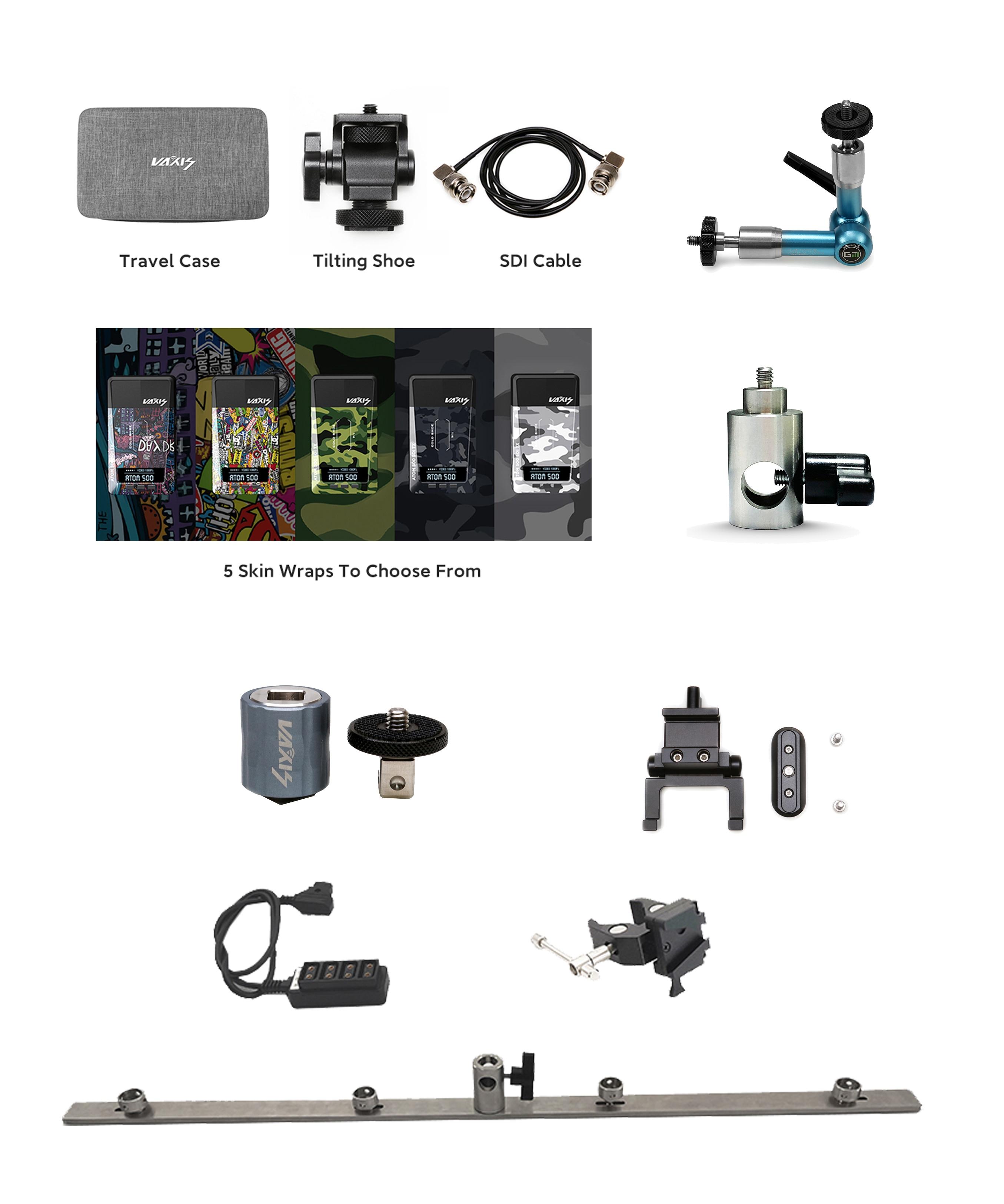 VAXIS ملحقات الفيديو اللاسلكية متعددة الوظائف مواصفات مختلفة حامل ماجيك الذراع كابل حقيبة حماية الجلد الخ