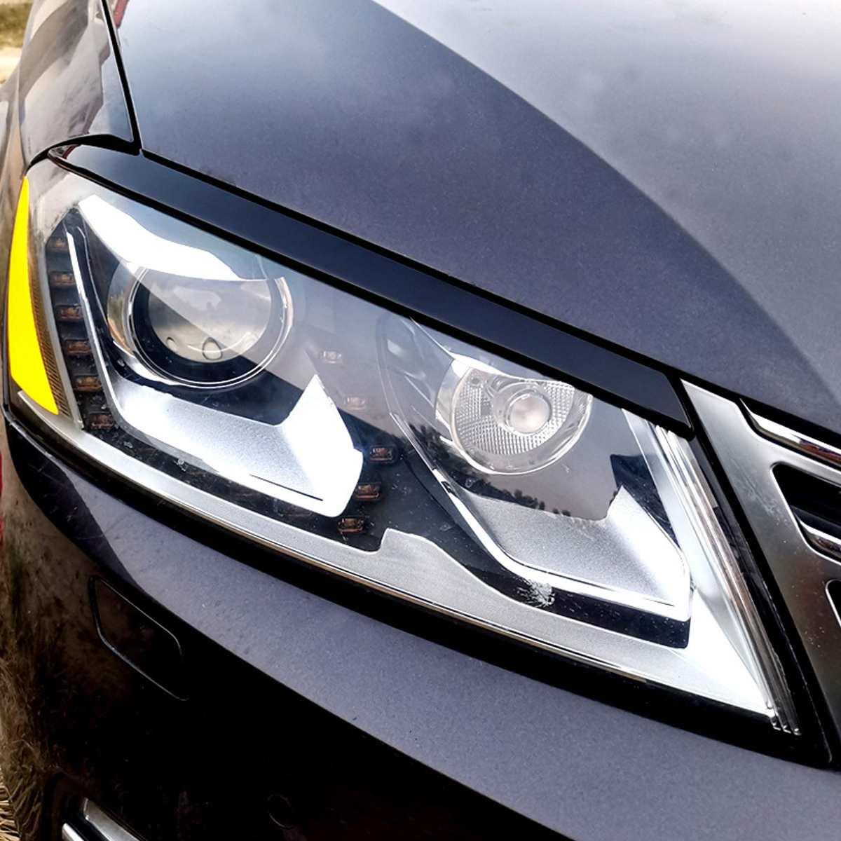 2Pcs CarbonLook Resin Headlight Eyelid Eyebrows Cover car Sticker Trim For VW for Passat B7 2010 2011 2012 2013 2014 Car Styling