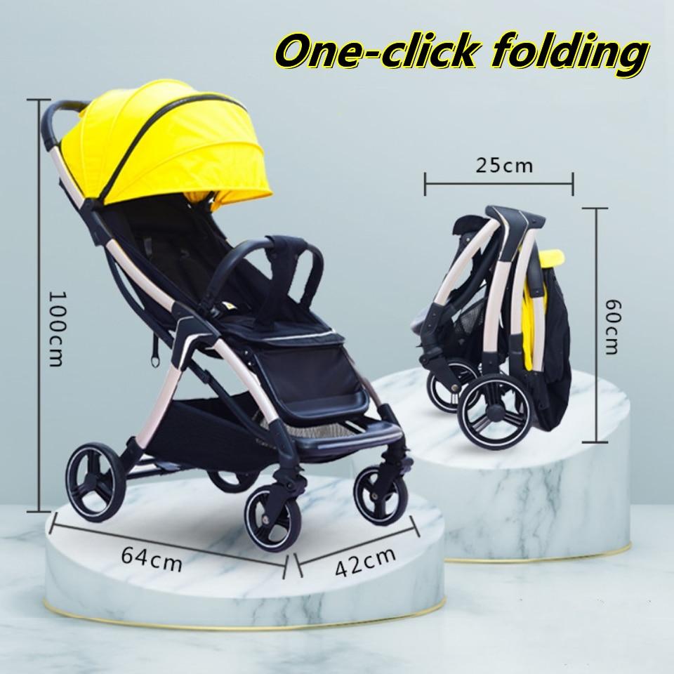 Baby stroller Foldable stroller Portable Strollers for children Baby cars Four-wheel push stroller Travel stroller free shipping